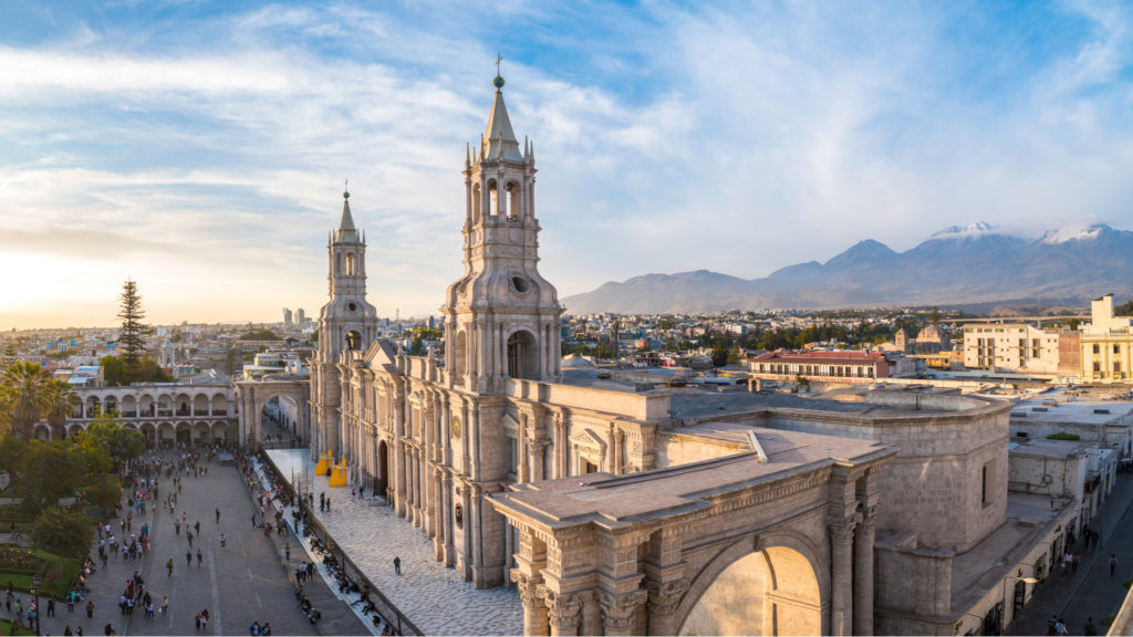 View of Plaza de Armas Arequipa