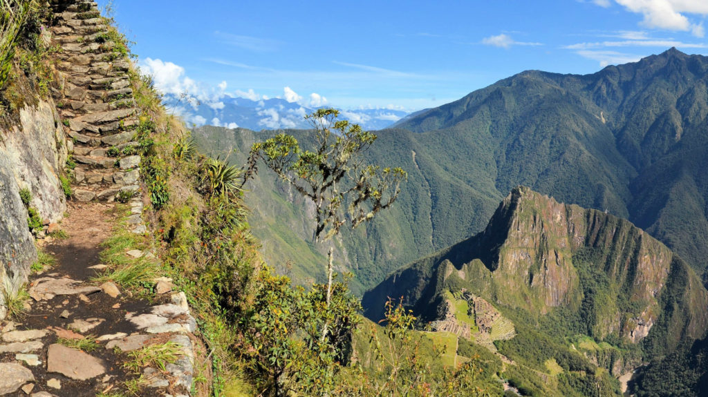 Inca Trail near Machu Picchu, Sacred Valley, Peru