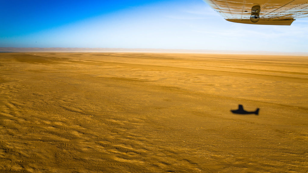 Skeleton Coast from the air, Namib desert, Namibia