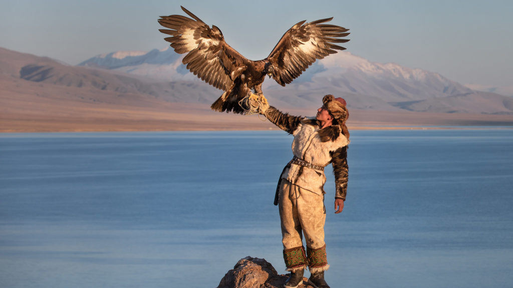 Eagle hunters in Ulgii
