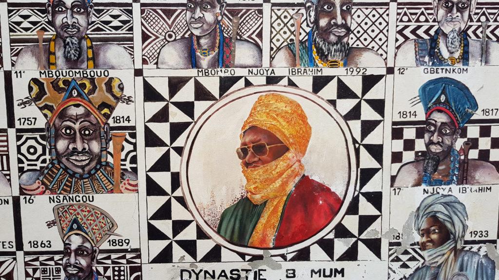Wall mural in Foumban, Cameroon
