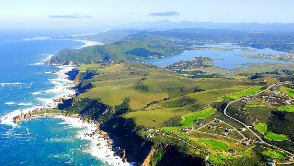 Aerial Shot of Knysna, Garden Route, South Africa