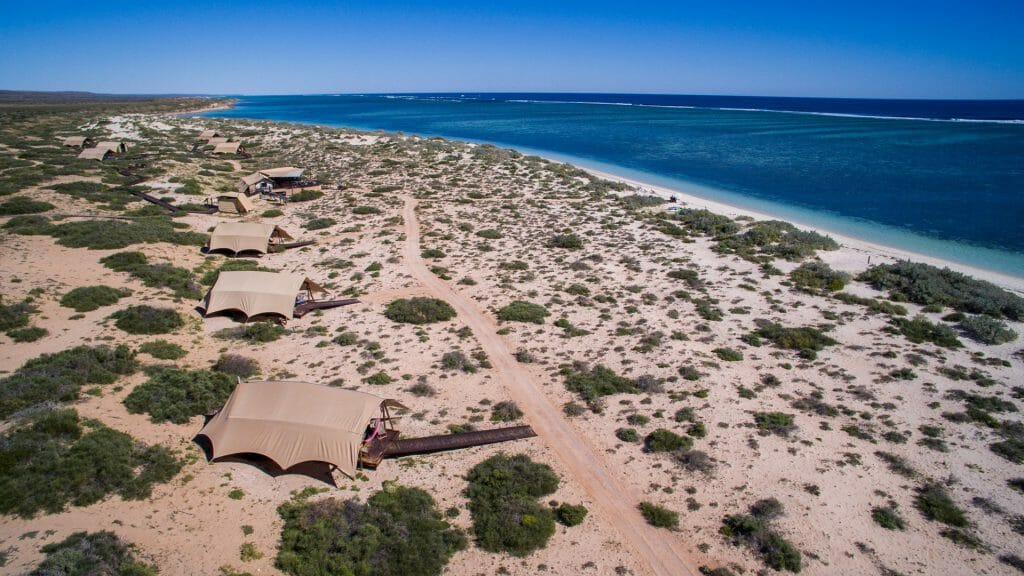 Aerial View of Sal Salis, Exmouth, Ningaloo Reef, Western Australia