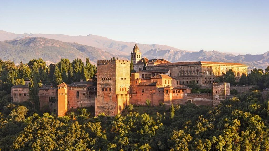 Alhambra from Albaicin in Granada, Andalusia, Spain