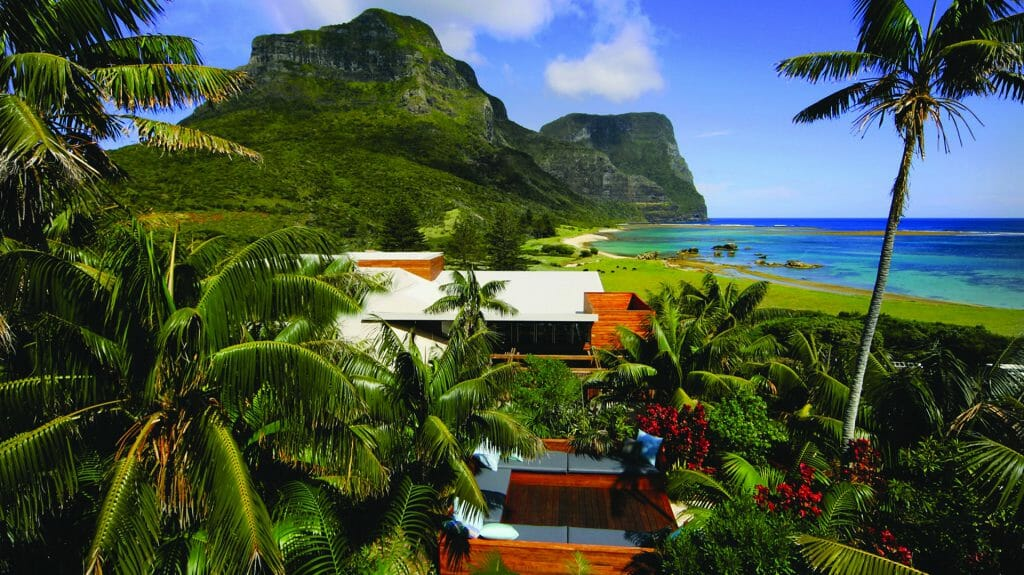 Ariel View of Lodge, Capella Lodge, Lord Howe Island, Australia