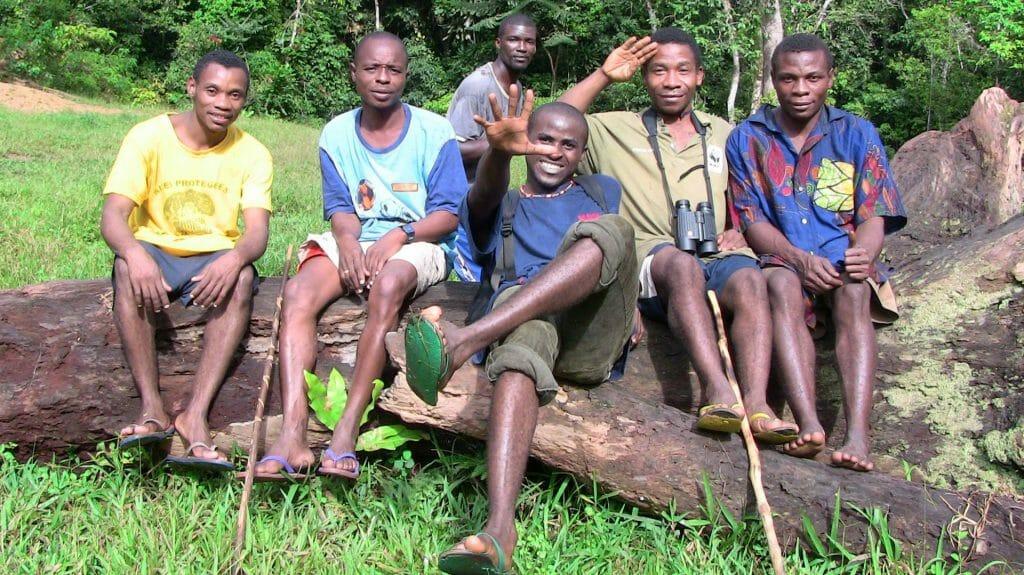 Ba'Aka trackers, Bai Hokou, Dzanga Sangha Reserve, Central African Republic