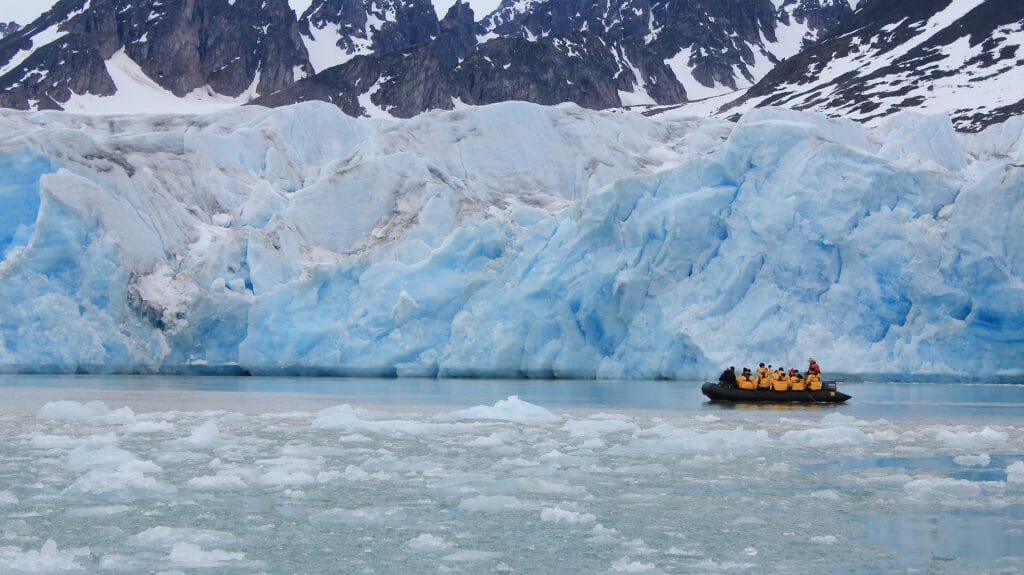 Boat and Glacier, Spitsbergen