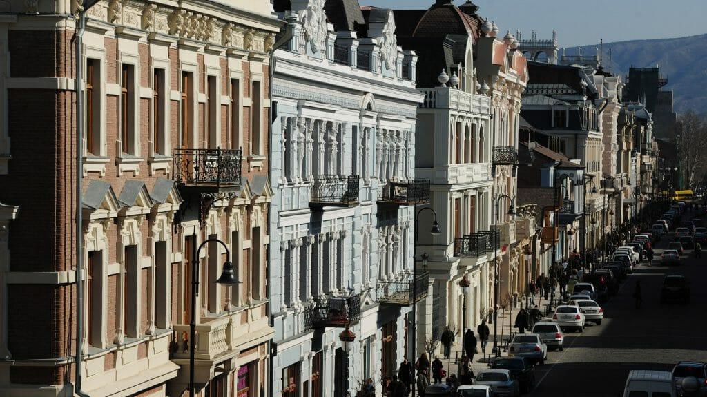 Buildings on Agmashenebeli Avenue, Tbilisi, Georgia