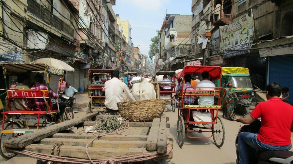 Busy Streets, Delhi, India