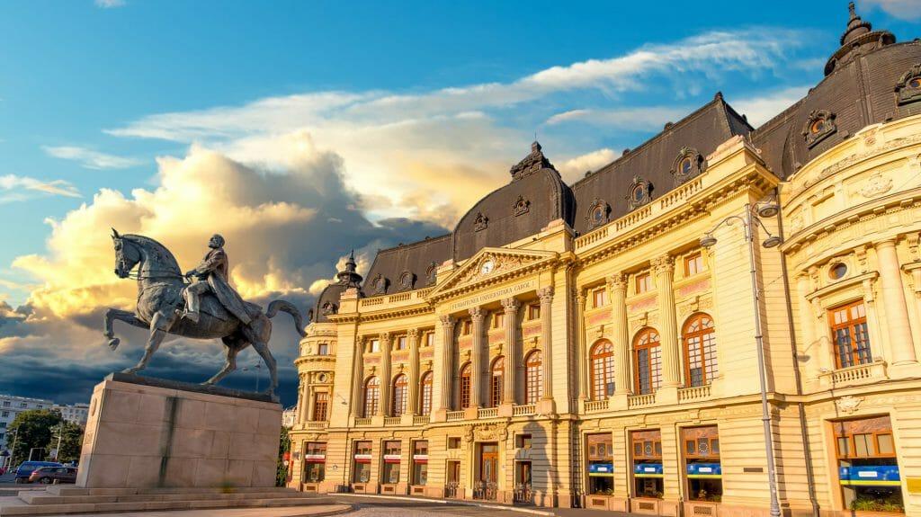 Calea Victoriei, The National Library, Romania, Bucharest