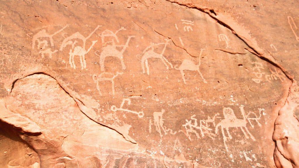 Wadi Rum Rock Carvings, Jordan