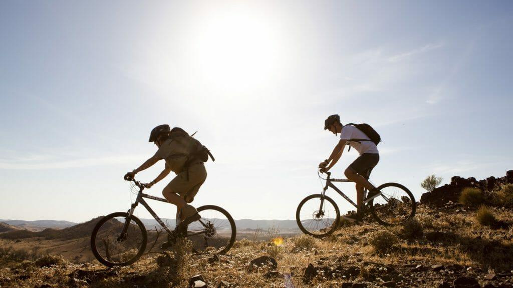 Cycling, Arkaba Station, Flinders Ranges, Australia