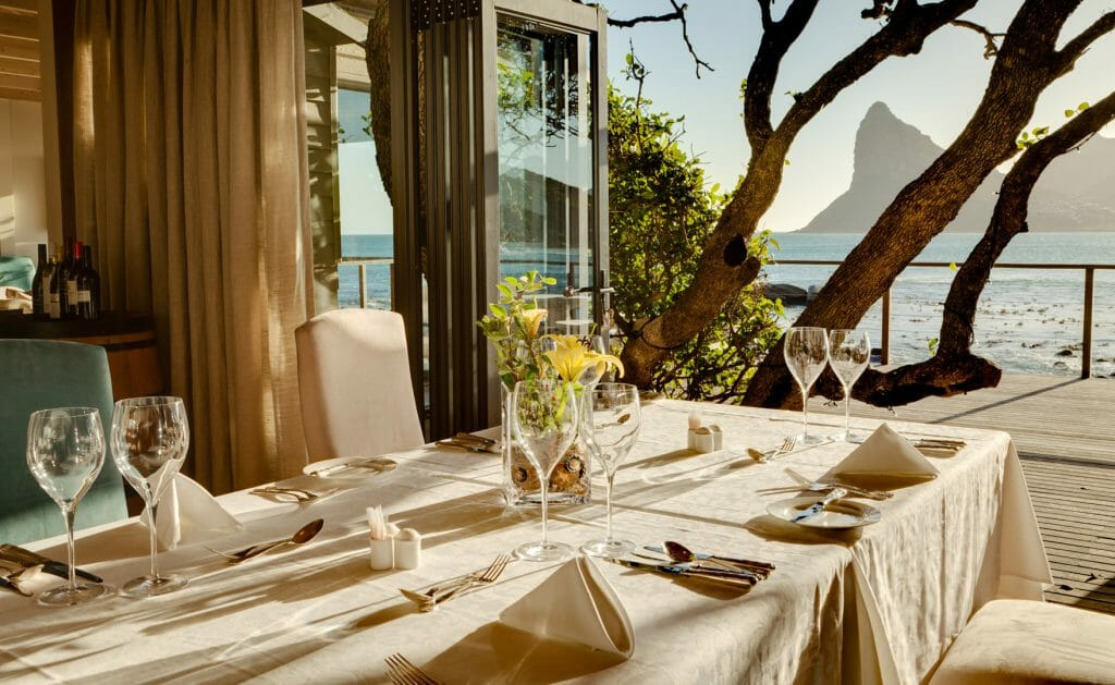 Dining area with view,Tintswalo Atlantic, Cape Town, South Africa