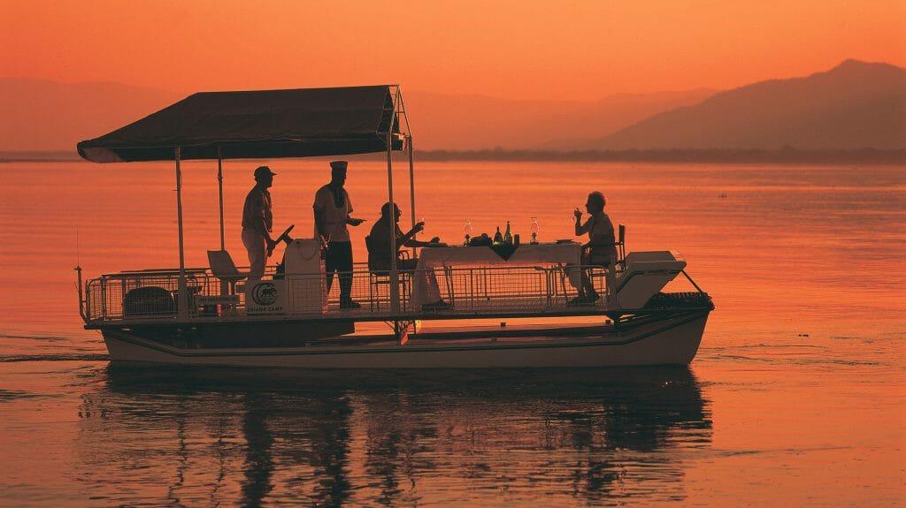 Dinner on Boat, Chiawa Camp, Lower Zambezi, Zambia