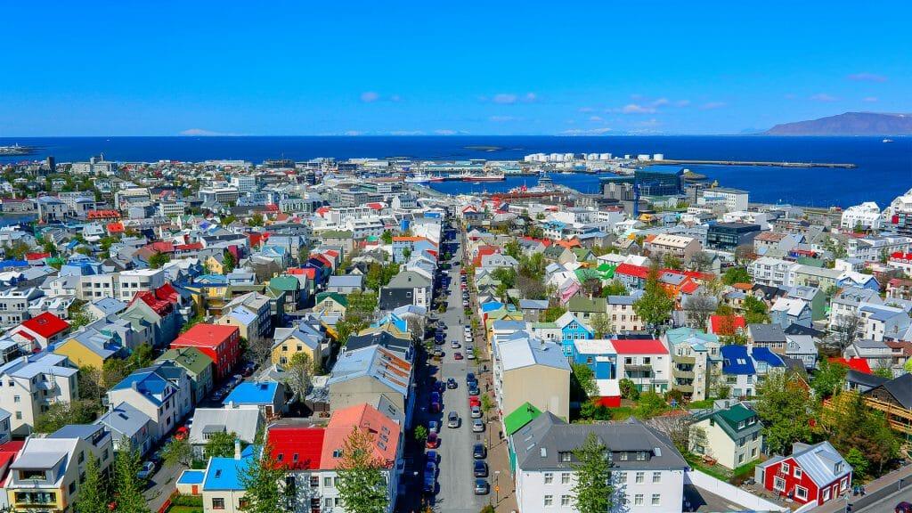 Down town Reykjavik, Iceland