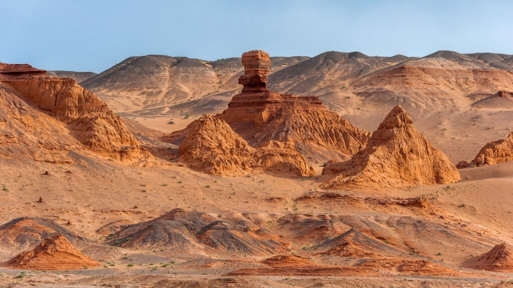 Desert view, Flaming Cliffs, Gobi Desert, Mongolia
