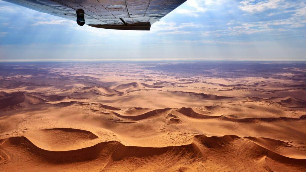 Flying safari, Skeleton Coast, Namibia