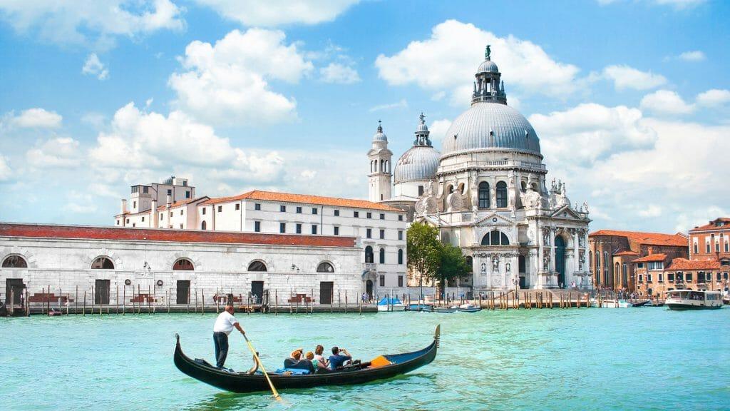 Gondola on Canal, Venice, Italy