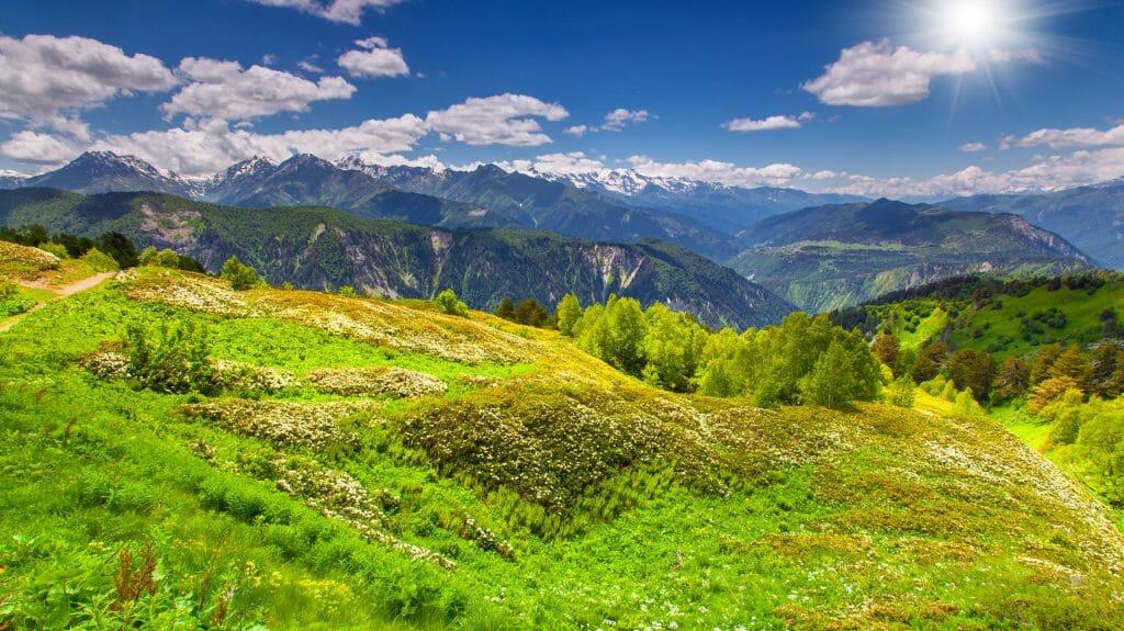 Greater Caucasus Mountain Range, Upper Svaneti, Georgia