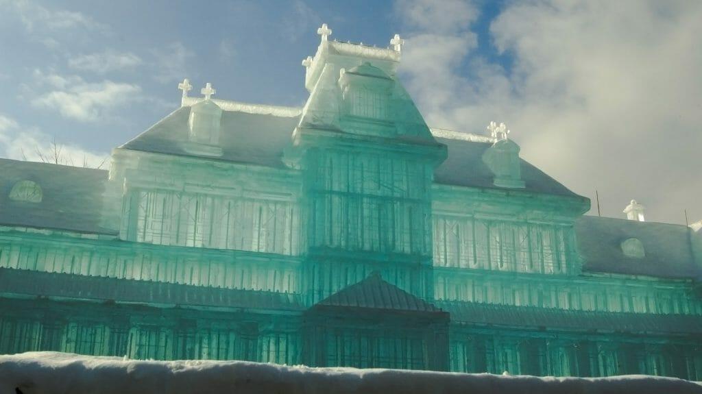 Ice sculpture, Sapporo Snow Festival, Hokkaido, Japan