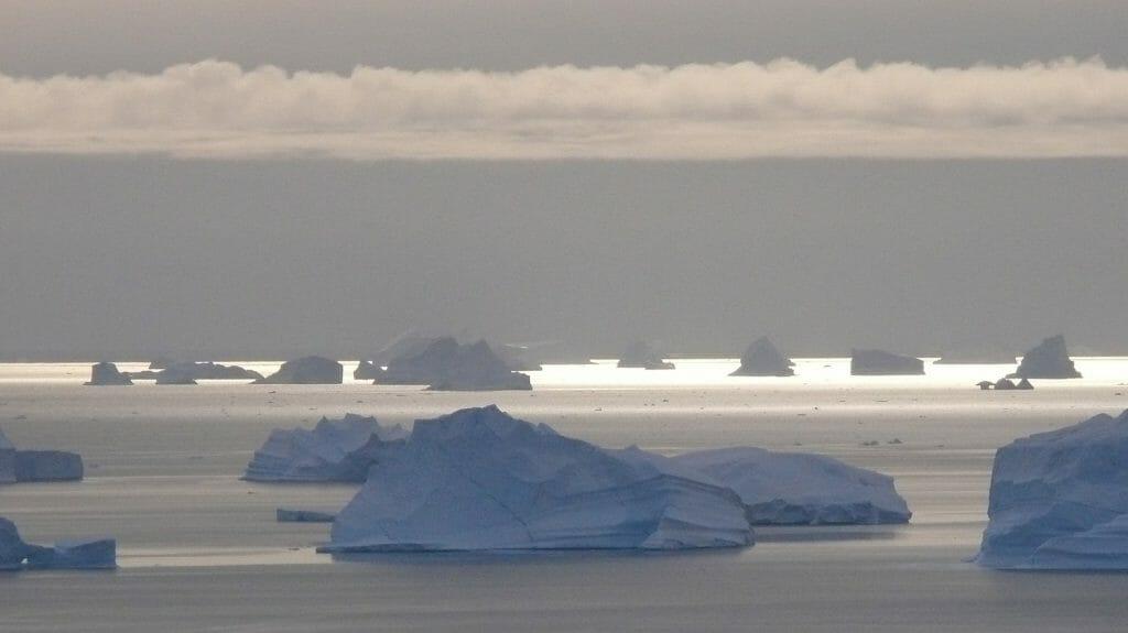 Icebergs at Midnight, Greenland