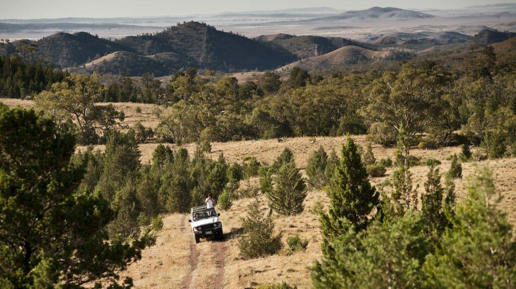 Jeep, Arkaba Station, Flinders Ranges, Australia