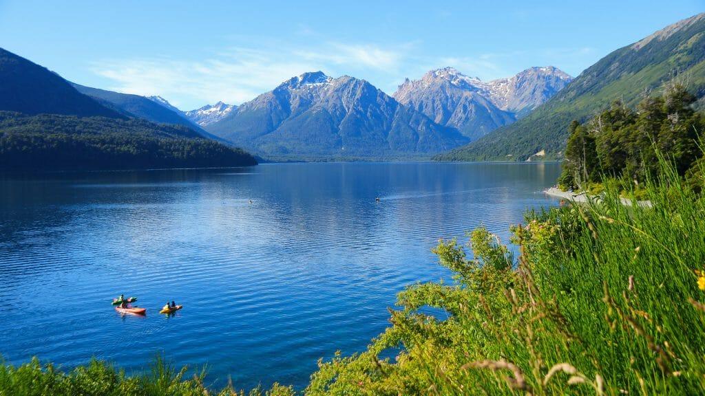 Kayaking, Mascardi Lake, San Carlos de Bariloche, Patagonia, Argentina