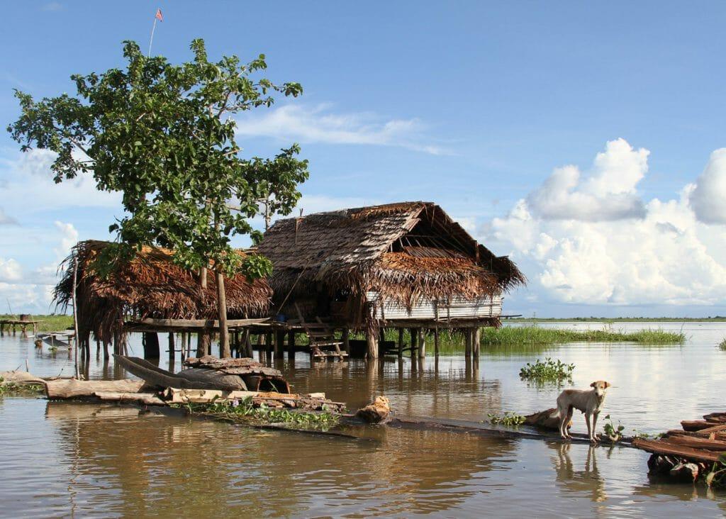 Kumbarumba village, Sepik River, Papua New Guinea