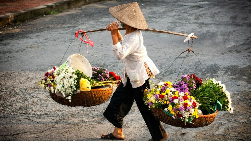 Lady Florist, Hanoi, Vietnam