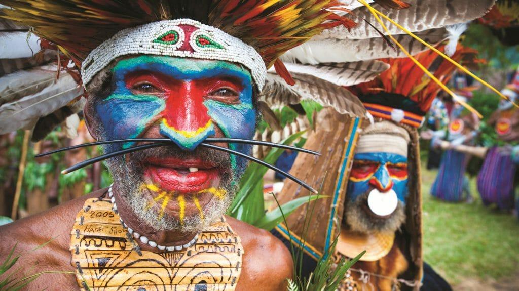 Local Tribesmen, Mt Hagen, Papua New Guinea