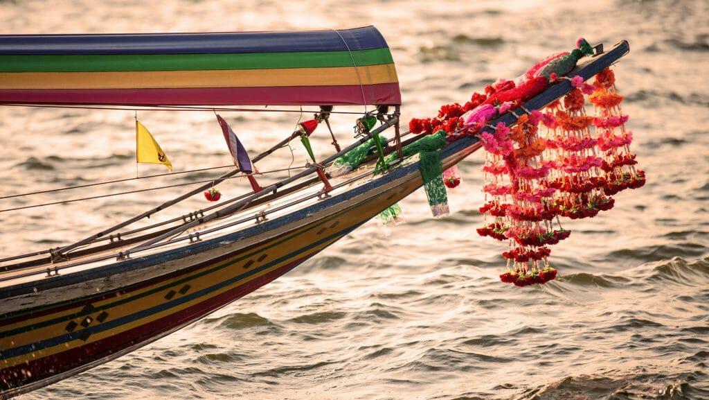 Long Tailed River Boat, Bangkok, Thailand