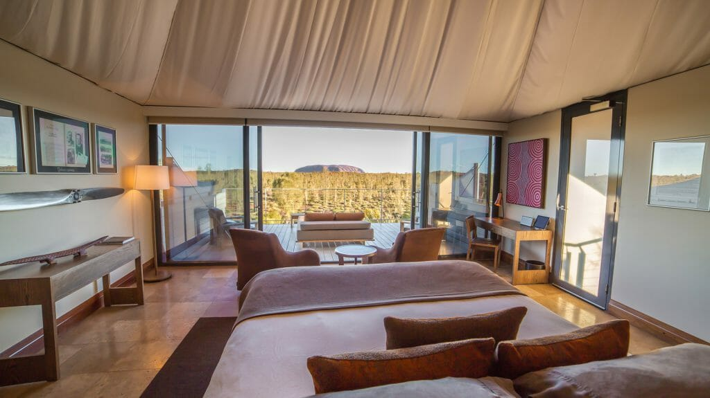 Longitude 131, Luxury Tent with Balcony, Ayers Rock, Uluru, Red Centre, Australia