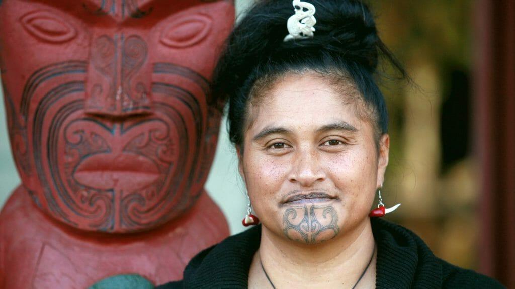 Maori Woman, Te Kuiti, North Island, New Zealand