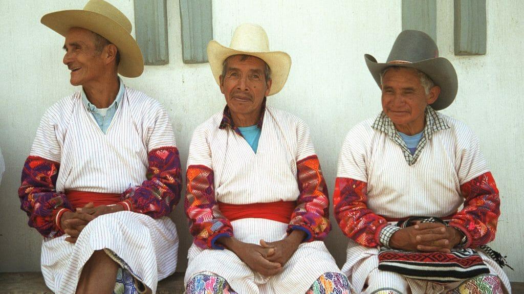 Men in traditional dress, Guatemala