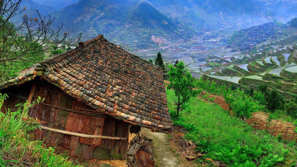 Miao Minority Village, Leishan Country, Guizhou, China