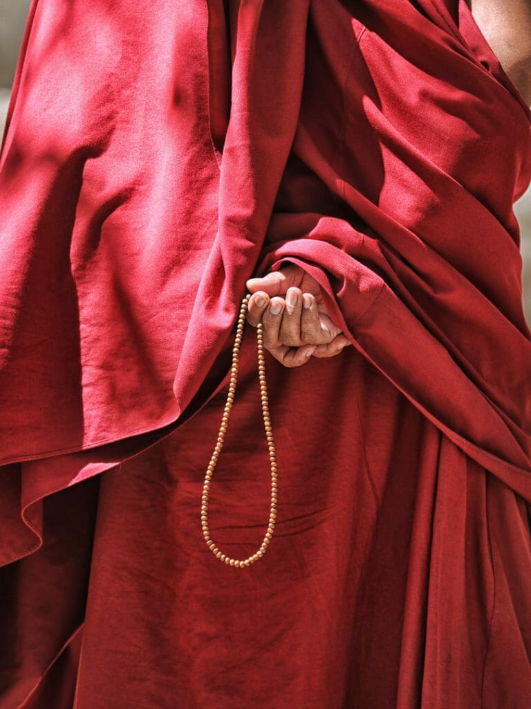 Monk with Prayer Beads, Tibet
