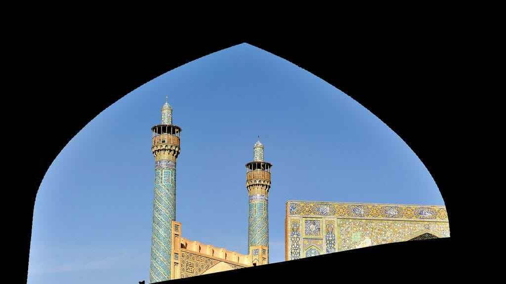 Mosque Minarettes, Isfahan, Iran