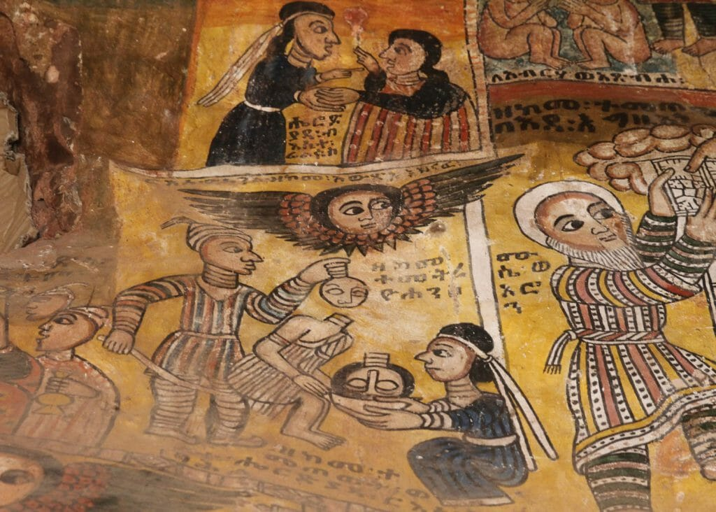 Mural in Abreha wa Atsbeha, Tigray
