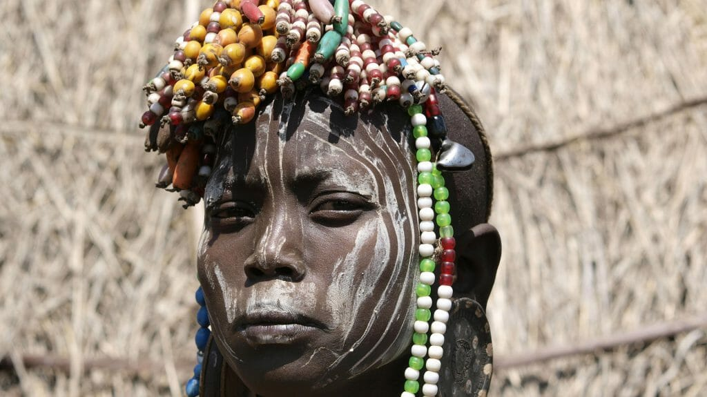 Mursi girl, Omo Valley, Ethiopia