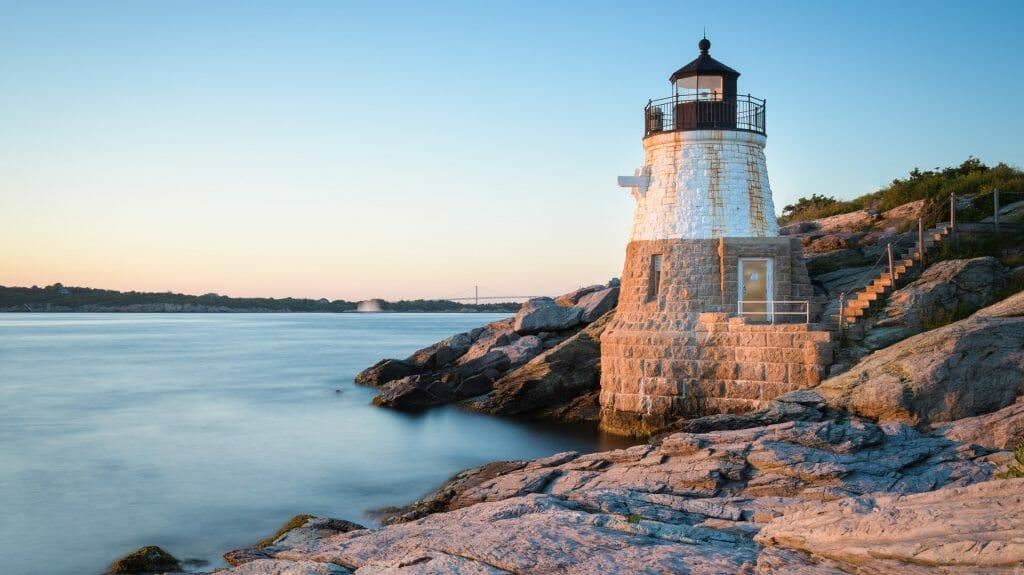 Lighthouse, Newport, Rhode Island, New England, USA
