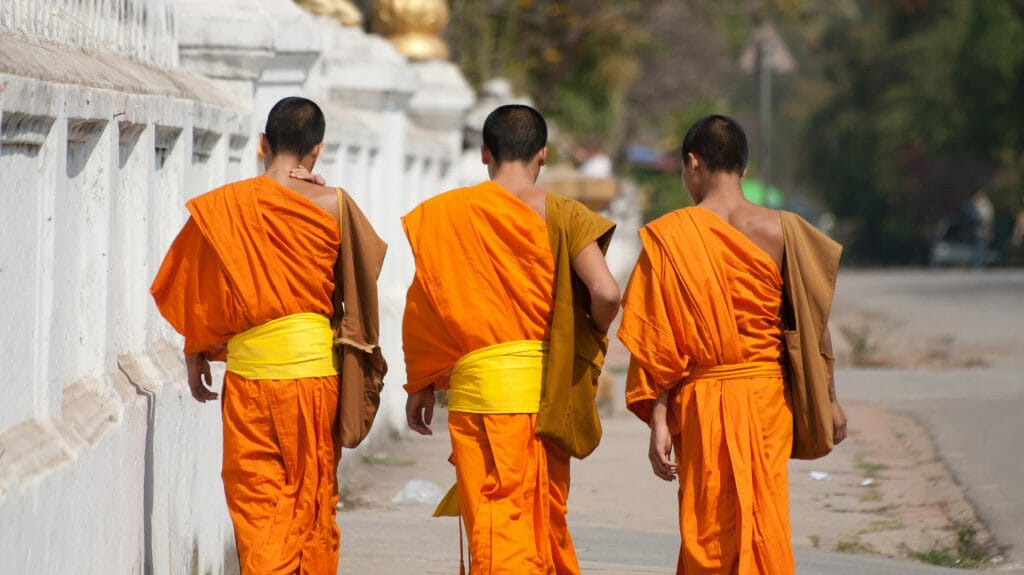 Novice Monks, Luang Phrabang, Laos