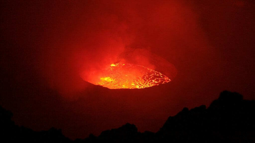 Nyiragongo molten lava, Virunga National Park, Democratic Republic of Congo