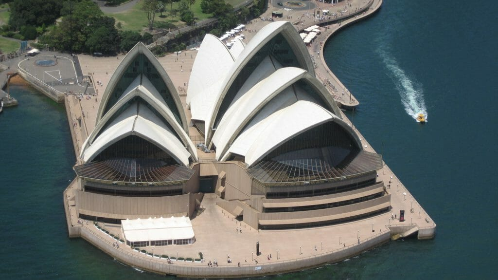 Opera House Aerial View, Sydney, Australia