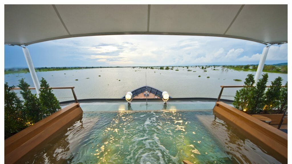 Outdoor Top Deck Plunge Pool, Aqua Mekong, Mekong Delta, South East Asia