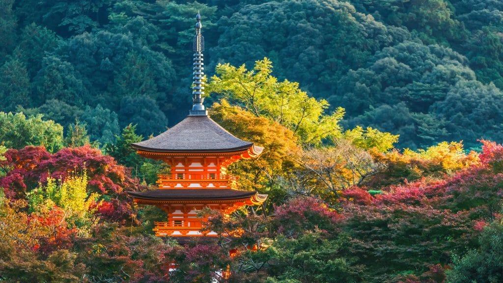 Pagoda at Taisan ji Temple in Kyoto, Japan