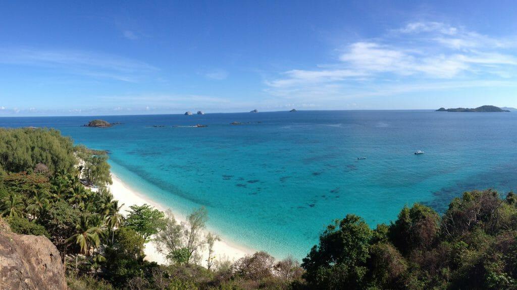 Panoramic View, Tsarabanjina, Nosy Be Archipelago, Madagascar