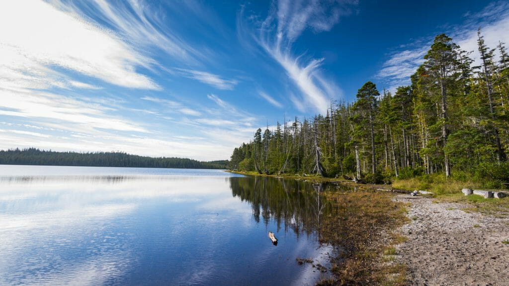 Pure Lake, Haida Gwaii, British Columbia, Canada