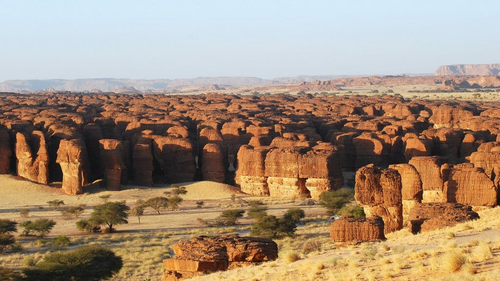Rock formations, Ennedi landscape, Chad