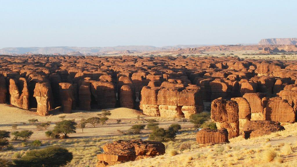 Rock formations, Ennedi landscape, Chad