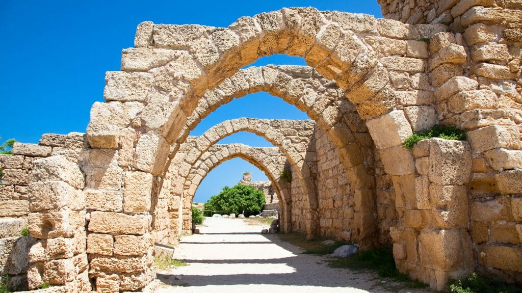 Ruins, Caesarea, Israel